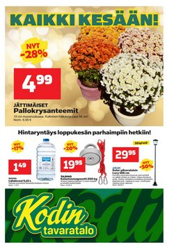 Tarjouksia yritykseltä Kodin Tavaratalo kaupungissa Kodin Tavaratalo lehtisiä ( Julkaistu eilen)