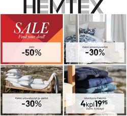 Tarjouksia yritykseltä Hemtex kaupungissa Hemtex lehtisiä ( 3 päivää jäljellä)