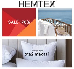 Tarjouksia yritykseltä Hemtex kaupungissa Hemtex lehtisiä ( Vanhentunut)