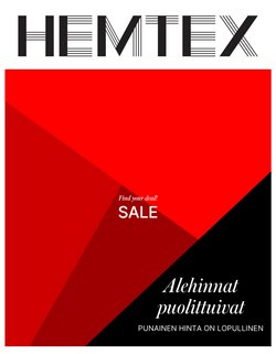 Tarjouksia yritykseltä Hemtex kaupungissa Hemtex lehtisiä ( 5 päivää jäljellä)