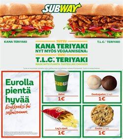 Ravintolat tarjoukset Subway kuvastossa Lempäälä ( 24 päivää jäljellä )