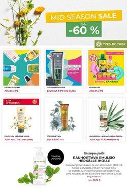 Kosmetiikka ja Kauneus tarjoukset Yves Rocher kuvastossa Järvenpää ( Vanhenee pian )