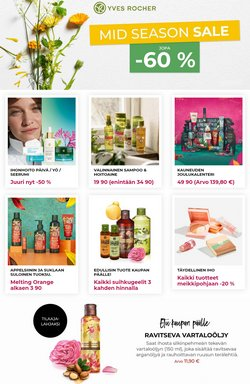 Tarjouksia yritykseltä Kosmetiikka ja Kauneus kaupungissa Yves Rocher lehtisiä ( 4 päivää jäljellä)