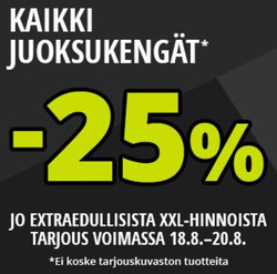 Tarjouksia yritykseltä XXL kaupungissa Helsinki lehtisiä