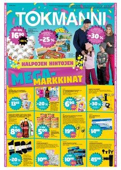 Supermarket tarjoukset Tokmanni kuvastossa Forssa ( Vanhenee pian )