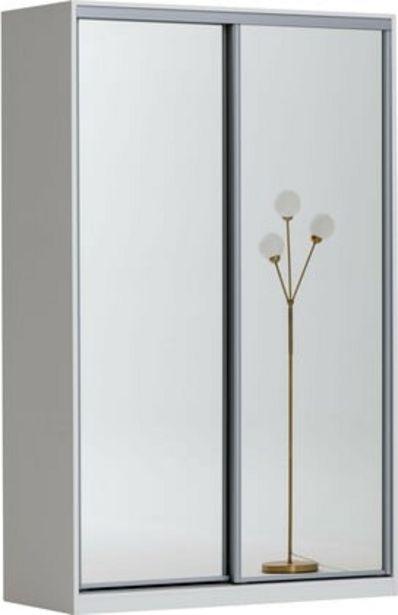 Doorit liukuovikomero 150x45cm, valkoinen runko, peiliovet -tarjous hintaan 570€