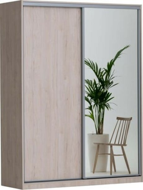 Doorit liukuovikomero 180x45cm, tammi runko, levyovi tammi + peiliovi -tarjous hintaan 779€