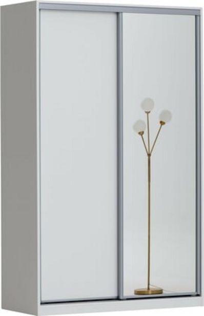 Doorit liukuovikomero 150x62cm, valkoinen runko, levyovi valkoinen + peiliovi -tarjous hintaan 530€