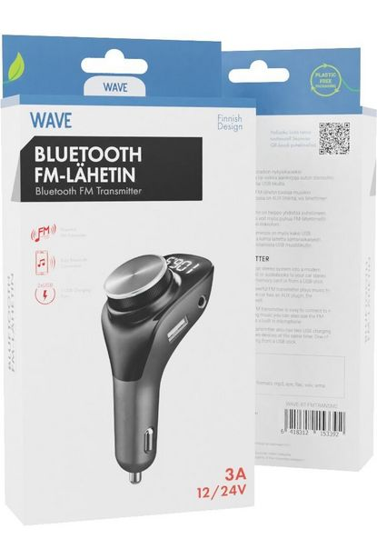 WAVE BLUETOOTH FM-LÄHETIN -tarjous hintaan 29,9€
