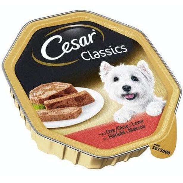 Cesar Classics Liha-maksa Koiranruoka 150g  Säästötalo Latvala -tarjous hintaan 1,05€