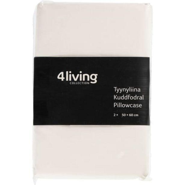 4living Tyynyliina Valkoinen 50x60cm 2kpl  Säästötalo Latvala -tarjous hintaan 4,95€