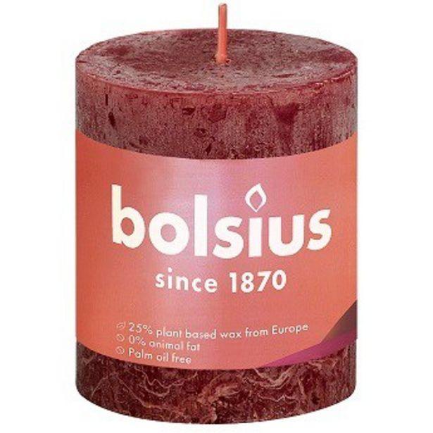 Bolsius Rustiikki KynttilÄ Punainen 8cm| Säästötalo Latvala -tarjous hintaan 2,95€