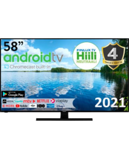 "Finlux 58-faf-9260 58"" 4k Uhd Android Smart Led Tv -tarjous hintaan 599€"