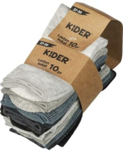 Kider 10-pack Lasten Sukat -tarjous hintaan 9,9€