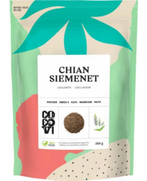 Cocovi 350g Chian Siemenet -tarjous hintaan 4,19€