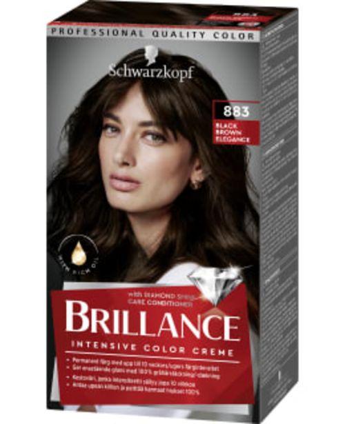 Schwarzkopf Brillance 883 Black Brown Elegance Hiusväri -tarjous hintaan 9,75€