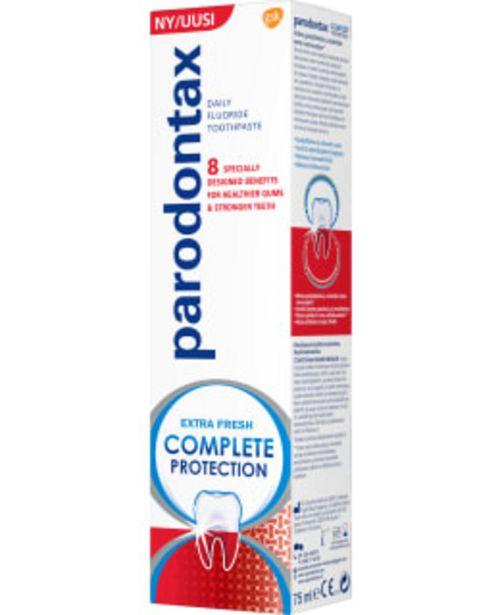 Parodontax Complete Protection 75 Ml Hammastahna -tarjous hintaan 4,9€
