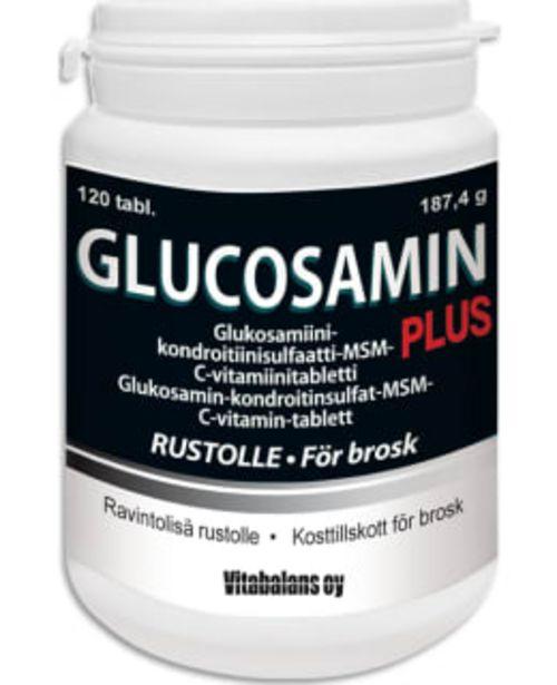 Glucosamin Plus 120 Tabl. Ravintolisä -tarjous hintaan 16,9€