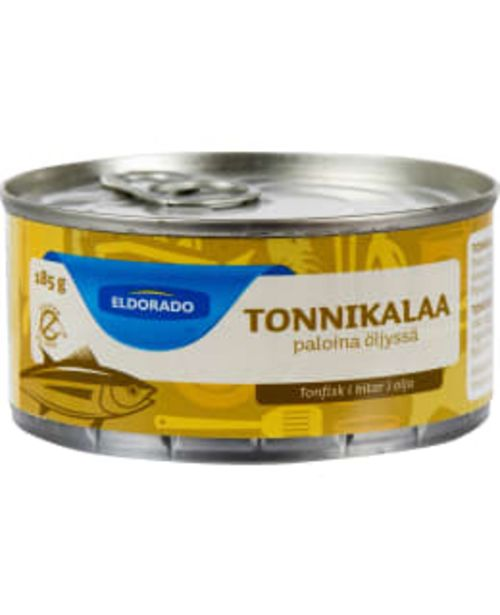 Eldorado 185/140 G Tonnikalapalat Auringonkukkaöljyssä -tarjous hintaan 2,24€
