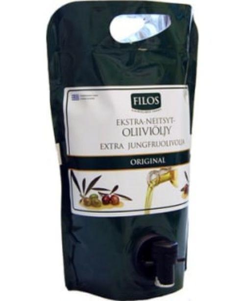 Filos Original Koroneiki 1,5 L Ekstra-neitsytoliiviöljy -tarjous hintaan 18,5€
