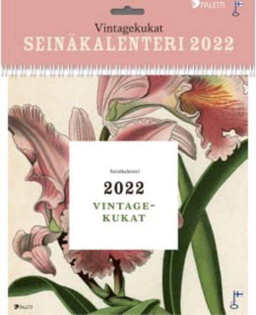 Paletti Kukat 2022 Seinäkalenteri -tarjous hintaan 14,9€