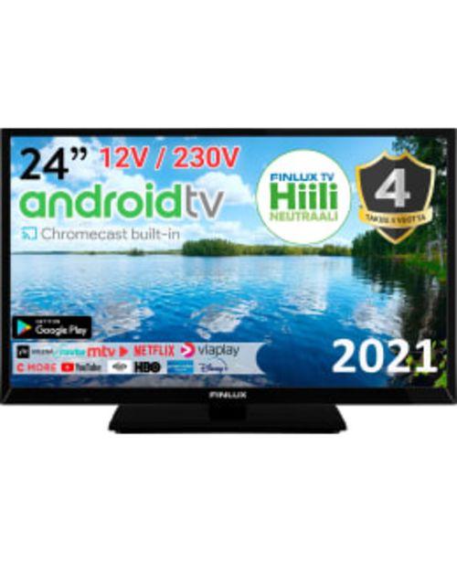 "Finlux 24-faf-9520-12  24"" Android Smart Tv 12v Tuella -tarjous hintaan 269€"