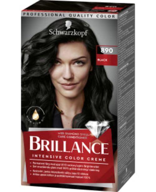Schwarzkopf Brillance 890 Black Hiusväri -tarjous hintaan 9,75€