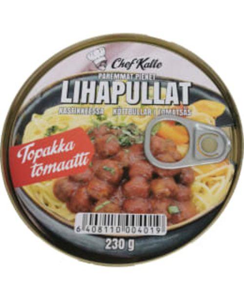 Chef Kalle 230g Lihapyörykät Kastikkeessa - Topakka Tomaatti -tarjous hintaan 3€