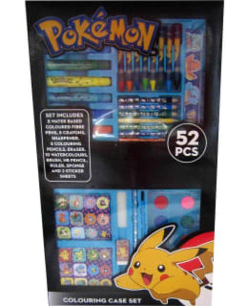 Pokemon 52-osainen Askartelusalkku -tarjous hintaan 9,9€