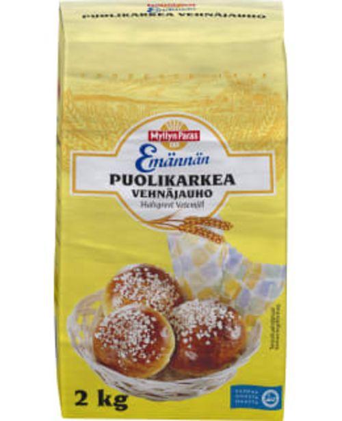 Myllyn Paras Emännän 2kg Puolikarkea Vehnäjauho -tarjous hintaan 1,34€