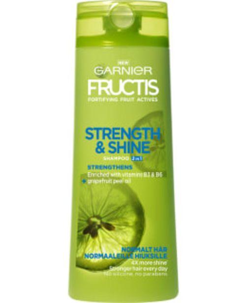 Garnier Fructis Strength&shine 2in1 250 Ml Shampoo -tarjous hintaan 2,7€