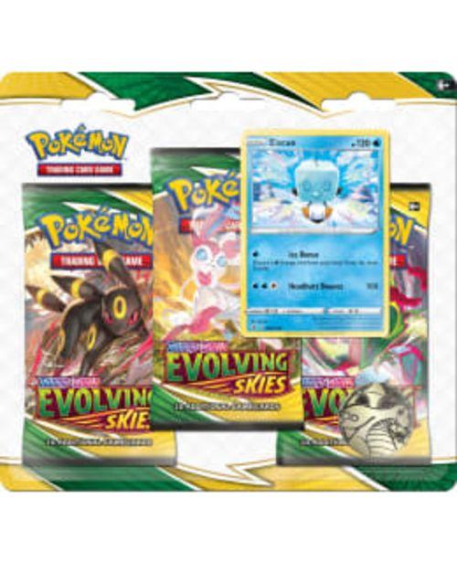 Pokemon Sword & Shield 3 Pack -paketti Evolving Skies -tarjous hintaan 21€