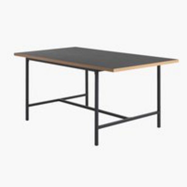 Ruokapöytä EGUM 90x160 musta/tammi -tarjous hintaan 199€