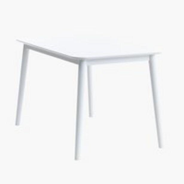 Ruokapöytä LANGDAL 77x118 valkoinen -tarjous hintaan 129€