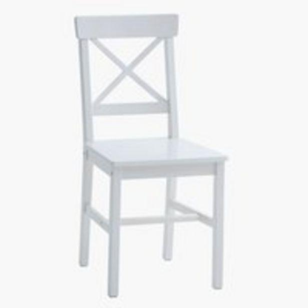 Ruokapöydän tuoli EJBY valkoinen -tarjous hintaan 40€