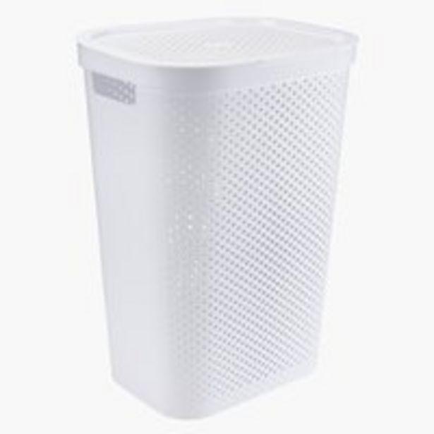 Pyykkikori INFINITY muovi valkoinen -tarjous hintaan 19,99€