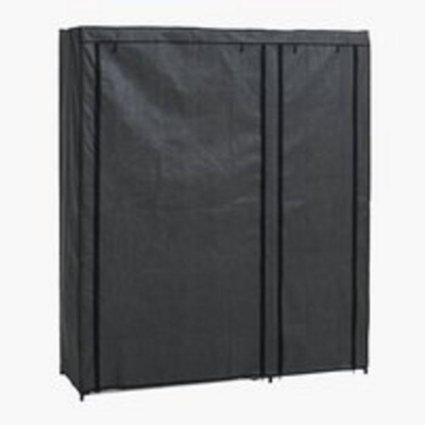 Vaatekaappi DAMHUS 149x174 tummanharmaa -tarjous hintaan 27,5€