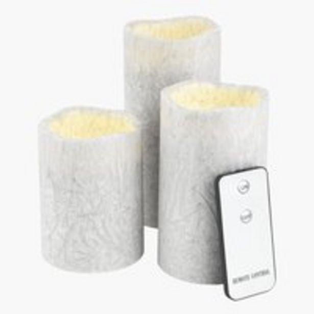 Kynttilä LAVA valkoinen LEDillä 3kpl/pkt -tarjous hintaan 13,5€