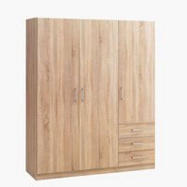 Vaatekaappi HAGENDRUP 144x176 tammi -tarjous hintaan 150€