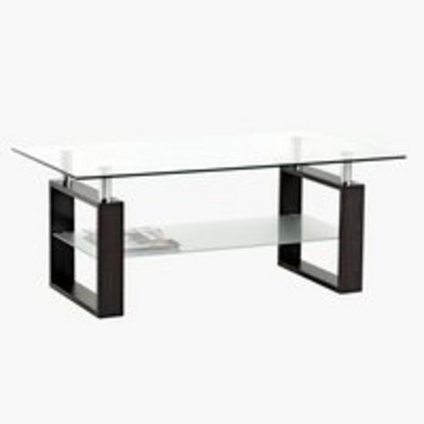 Sohvapöytä NYBORG 60x110 metalli/lasi -tarjous hintaan 119€