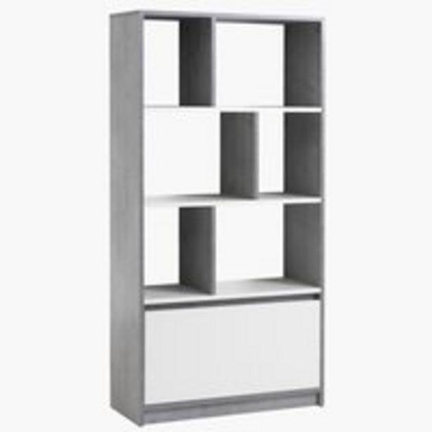 Kirjahylly BILLUND valkoinen/betoni -tarjous hintaan 149€