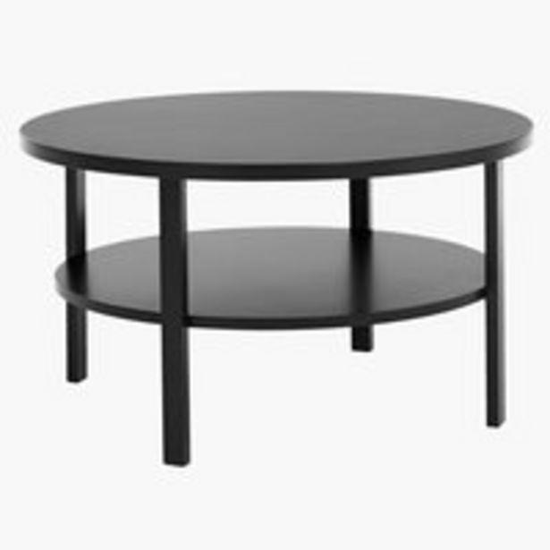 Sohvapöytä SKIBBY Ø80 hyllyllä musta -tarjous hintaan 99€