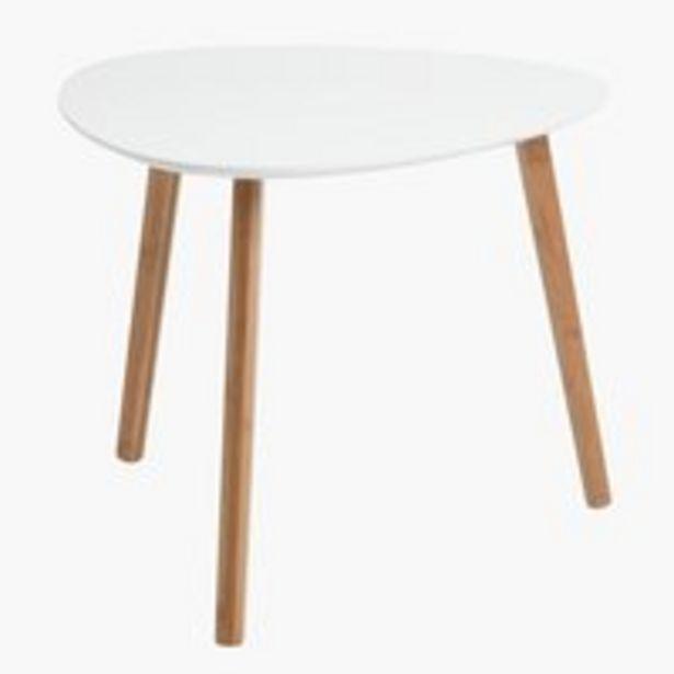 Sohvapöytä TAPS 55x55 valkoinen/bambu -tarjous hintaan 27,5€