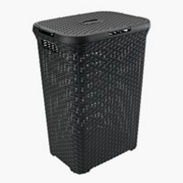 Pyykkikori RONALD L34xP45xK62cm musta -tarjous hintaan 21,99€