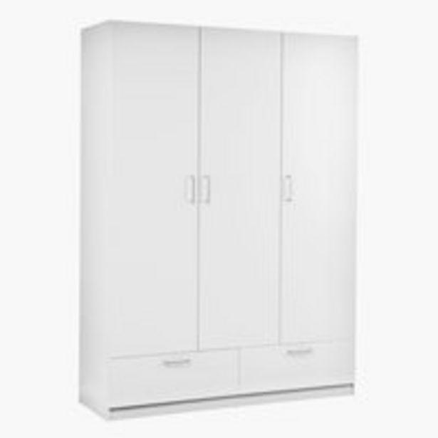 Vaatekaappi ELLESTED 144x200 valkoinen -tarjous hintaan 200€