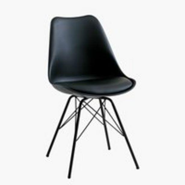 Ruokapöydän tuoli KLARUP musta -tarjous hintaan 79,99€