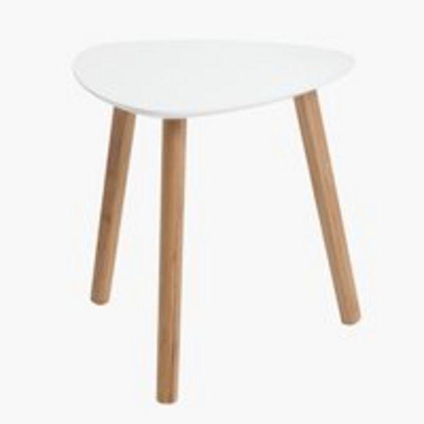 Sohvapöytä TAPS 40x40 valkoinen/bambu -tarjous hintaan 22,5€