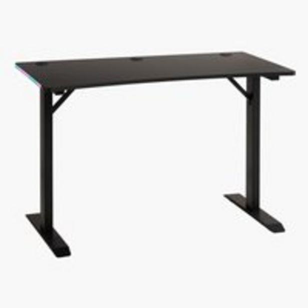 Pelipöytä HALDUM LED musta -tarjous hintaan 229€