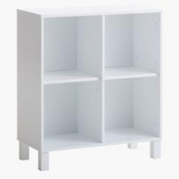 Hylly SKALS 4 lokeroa valkoinen -tarjous hintaan 60€
