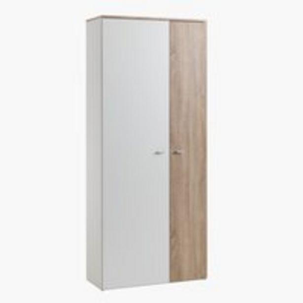 Eteiskaappi BELLE 2 ovea valk./tammi -tarjous hintaan 115€